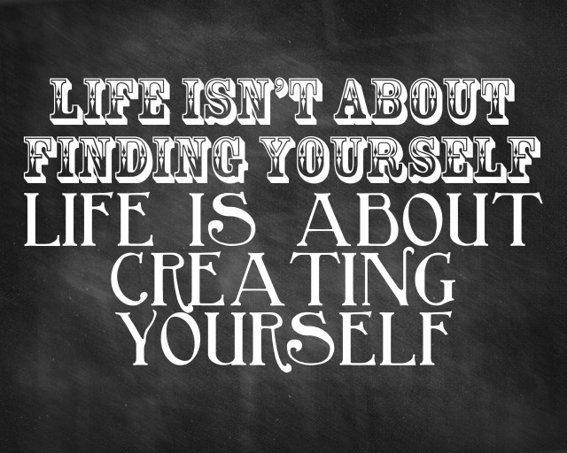 create-yourself-quote