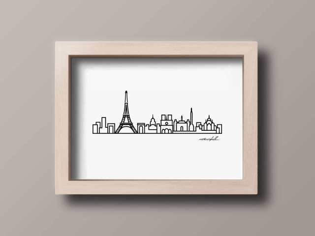 8 x 10 frame Paris