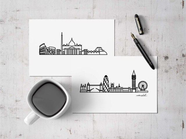 avemariabell skyline postcards minimalist design london-01-01
