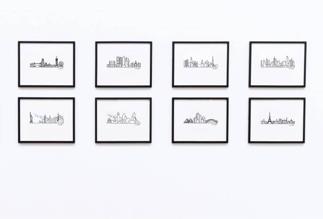 Gallery Wall small skyline avemariabell designs city skyline NEW